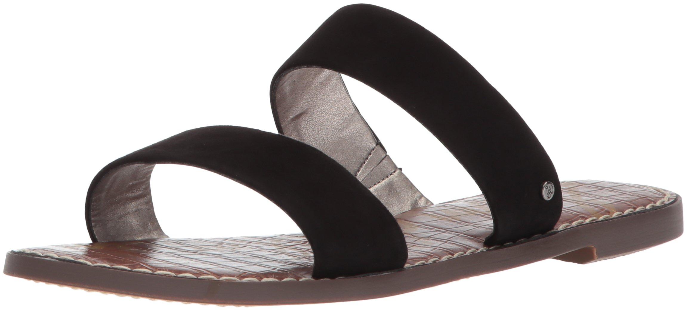 Sam Edelman Women's Gala Slide Sandal, Black Suede, 8 M US