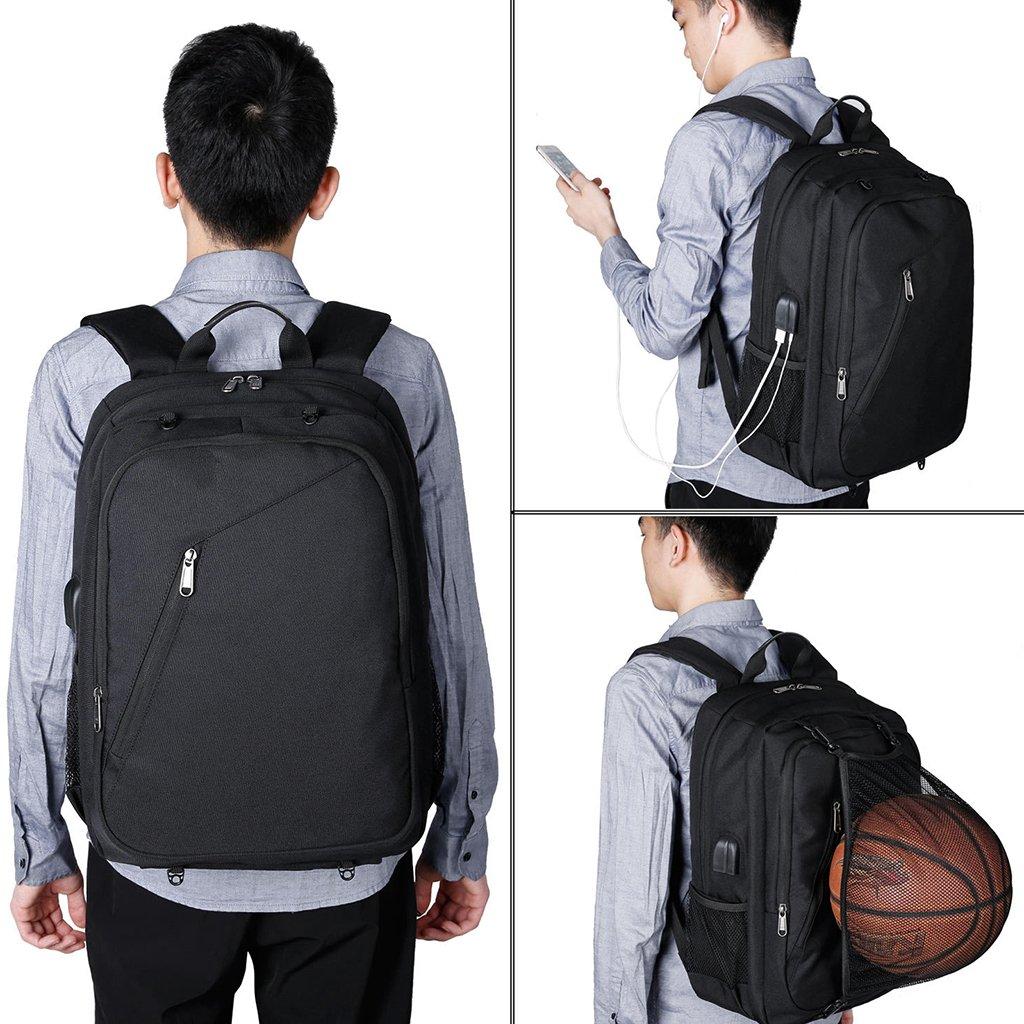 GROOMY männer männer männer Laptop Rucksack USB Lade kopfhörer Port Sport Basketball net Bookbag-b   B07K6FG7D7 Rucksackhandtaschen Große Auswahl cdb883