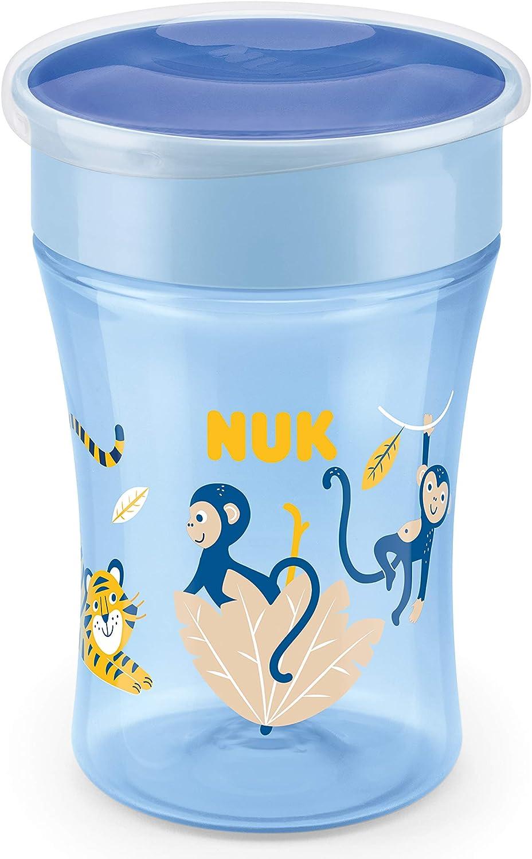 Nuk Magic Cup . borde de 360/°, cristal de silicona impermeable Mono Vaso para aprender a beber azul
