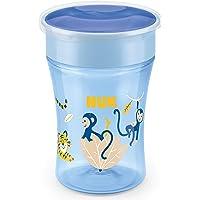 NUK Magic Cup doftmugg   läckagesäker 360° drickkant   8+ månader   BPA-fri   230 ml   apa (blå)