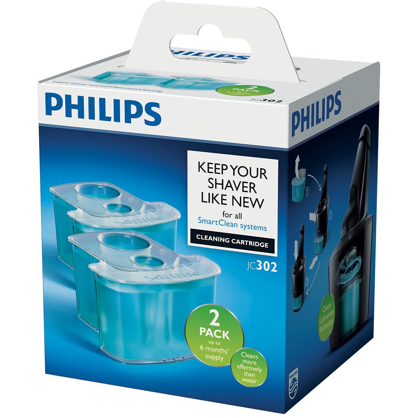 Philips SmartClean Cartridge - Pack of 2 JC302/50