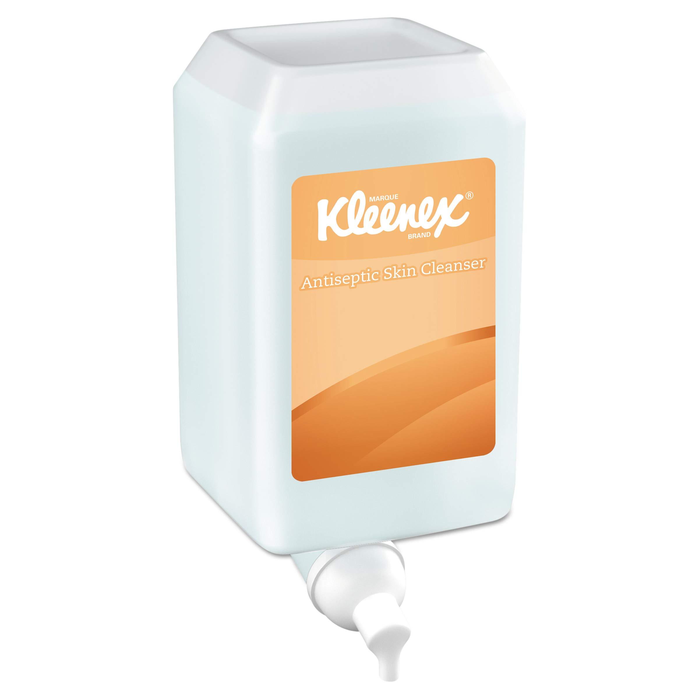 Kleenex 91555 E-2 Foam Skin Cleanser w/Moisturizers, Unscented, 1000 mL Refill (Case of 6) by Kleenex