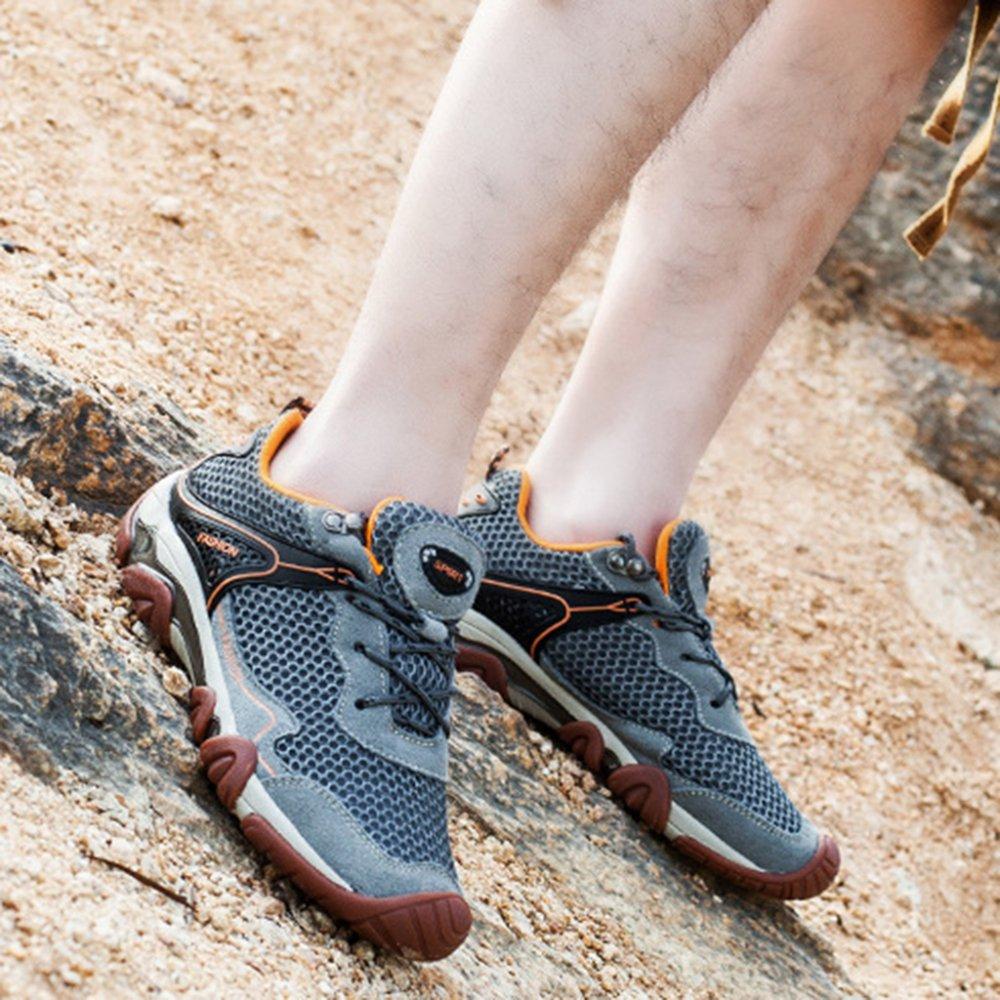 YEEOGF Mens Wanderschuhe Breathable Wanderschuhe Sommer Täglich Schuhe Gummisohle Toe Bumper Trekking Täglich Sommer d0ba40