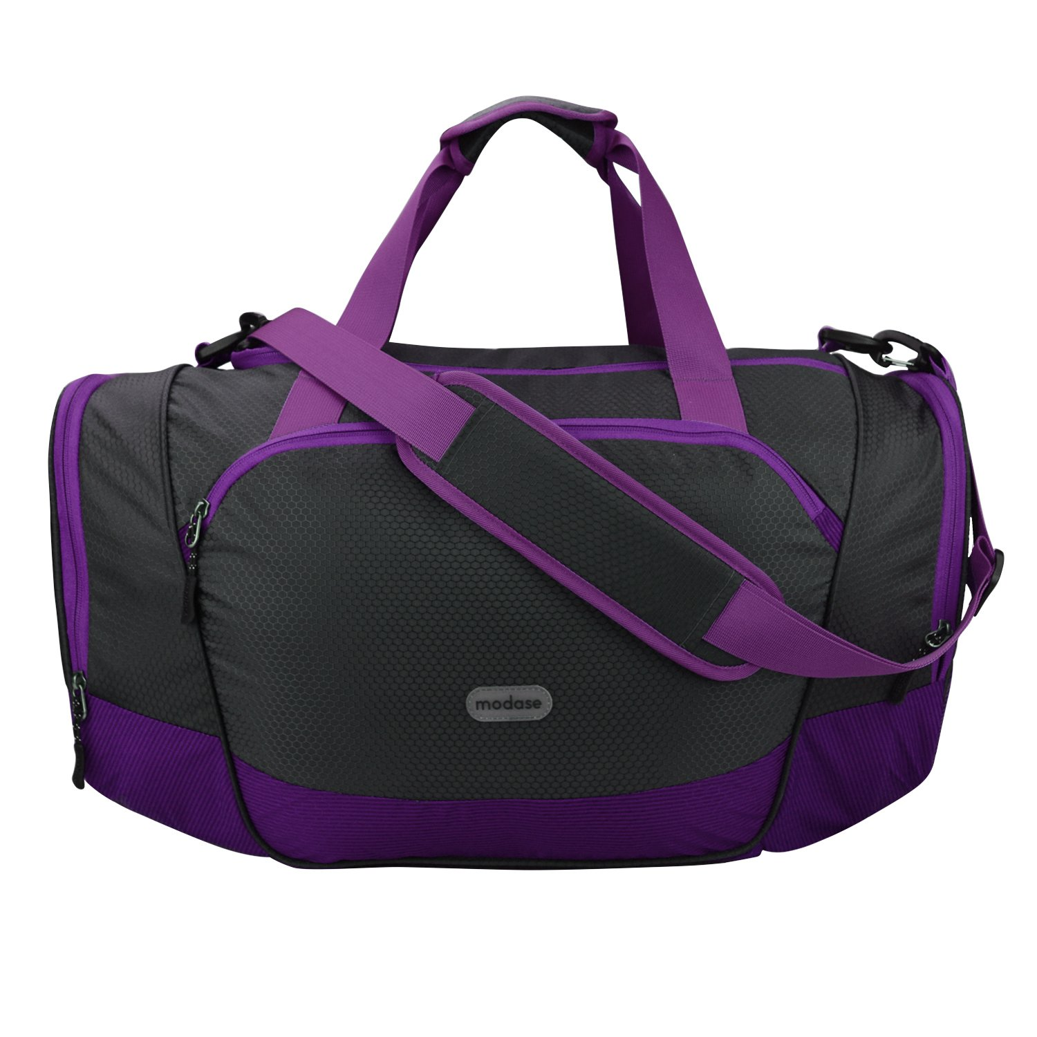 modase Duffel Bag Gym Bag Travel Duffle Luggage Sport Bag with Shoe Compartment