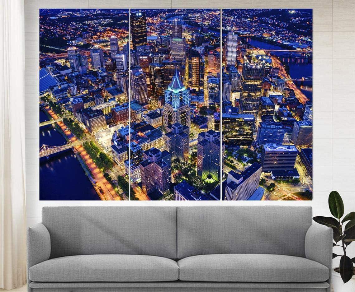Marchak Pittsburgh Skyline, Pittsburgh Wall Art, Pittsburgh Canvas Print, Pittsburgh Wall Decor, Pennsylvania Canvas Art