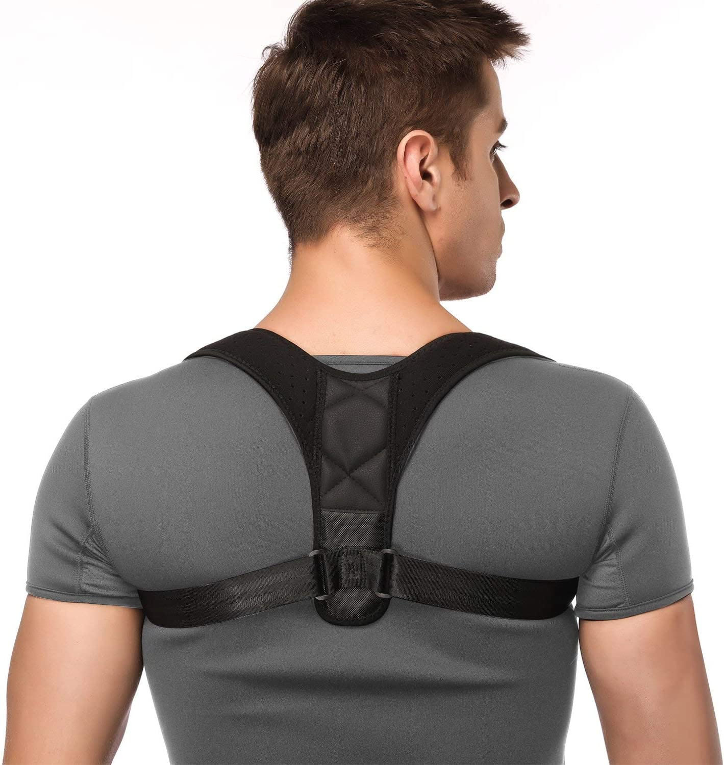 M, White Unisex AOFIT Upgraded Version 10PCS Magnets Back Support Belt for Posture Correction and Back Pain Support