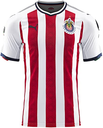 65ac8425493 Amazon.com   PUMA Men s Chivas Promo Home Jersey 17 18 Red White (XL ...