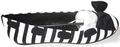 b00afeb2bcb Amazon.com | Gianni Bini Women Shoes BLK/WHT 6M Loafer Flats ...