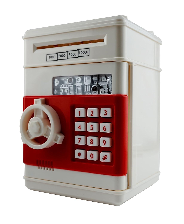 6 Goodealsお金のための貯金箱コインストレージ保存ATM安全ボックスBills安全 – USA Seller 。 B01JJUKFRY  クリームホワイト
