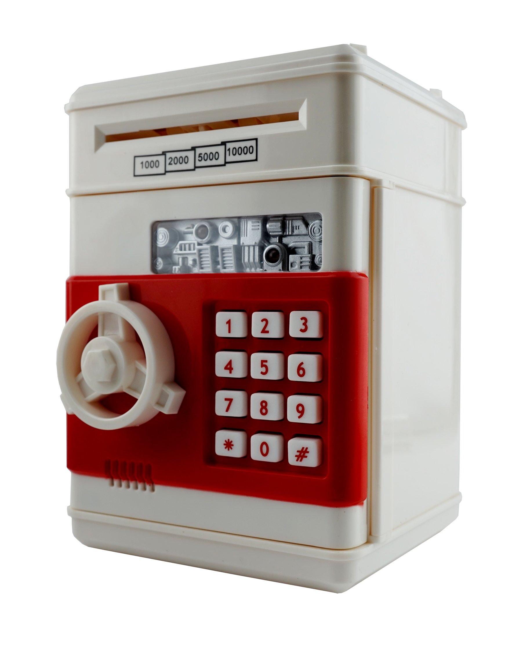6goodeals Money Saving Piggy Bank Coin Storage for ATM Safety Box Bills Safe - USA SELLER! (Cream White)