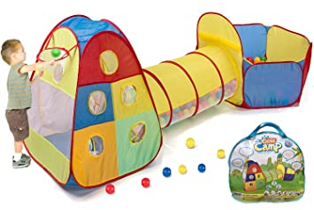 Utex Pop up Kids Play Tent with Tunnel and Ball Pit Indoor and Outdoor Easy Folding  sc 1 st  Amazon.com & Amazon.com: Utex Pop up Kids Play Tent with Tunnel and Ball Pit ...