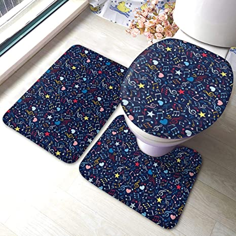 Peachy Amazon Com Music Hearts Notes Stars Melodic Bathroom Rugs Gmtry Best Dining Table And Chair Ideas Images Gmtryco