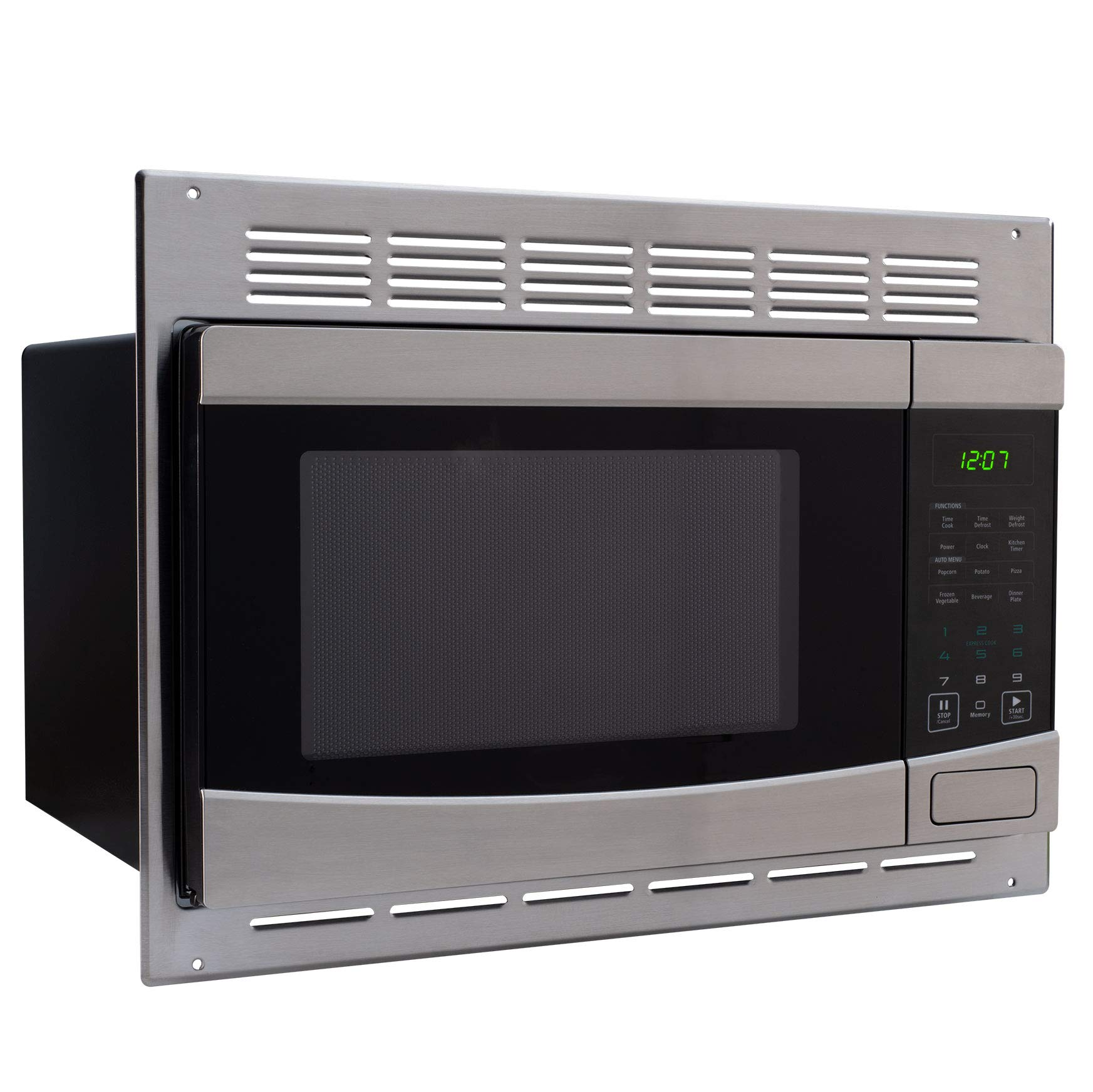 RecPro RV Stainless-Steel Microwave 1.0 cu ft. With Trim Package EM925AQR-S by RecPro (Image #1)