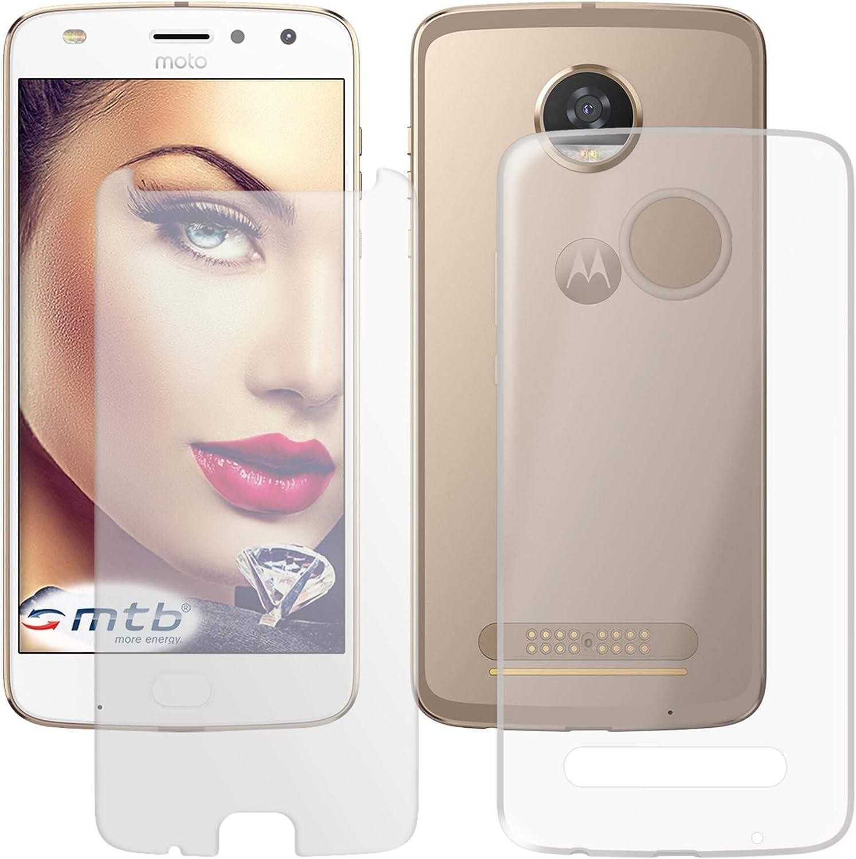 mtb more energy® Protector de Pantalla de Vidrio + Funda para Motorola Moto Z2 Play/Moto Z Play 2. Gen. (5.5) | Transparent | TPU Carcasa: Amazon.es: Electrónica