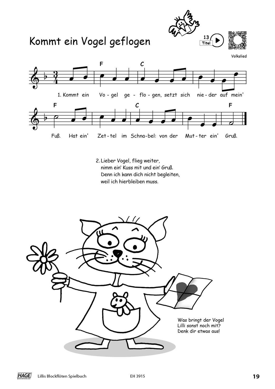Hage Musikverlag Lillis Blockflöten-Set Deutsch mit Buch und CD