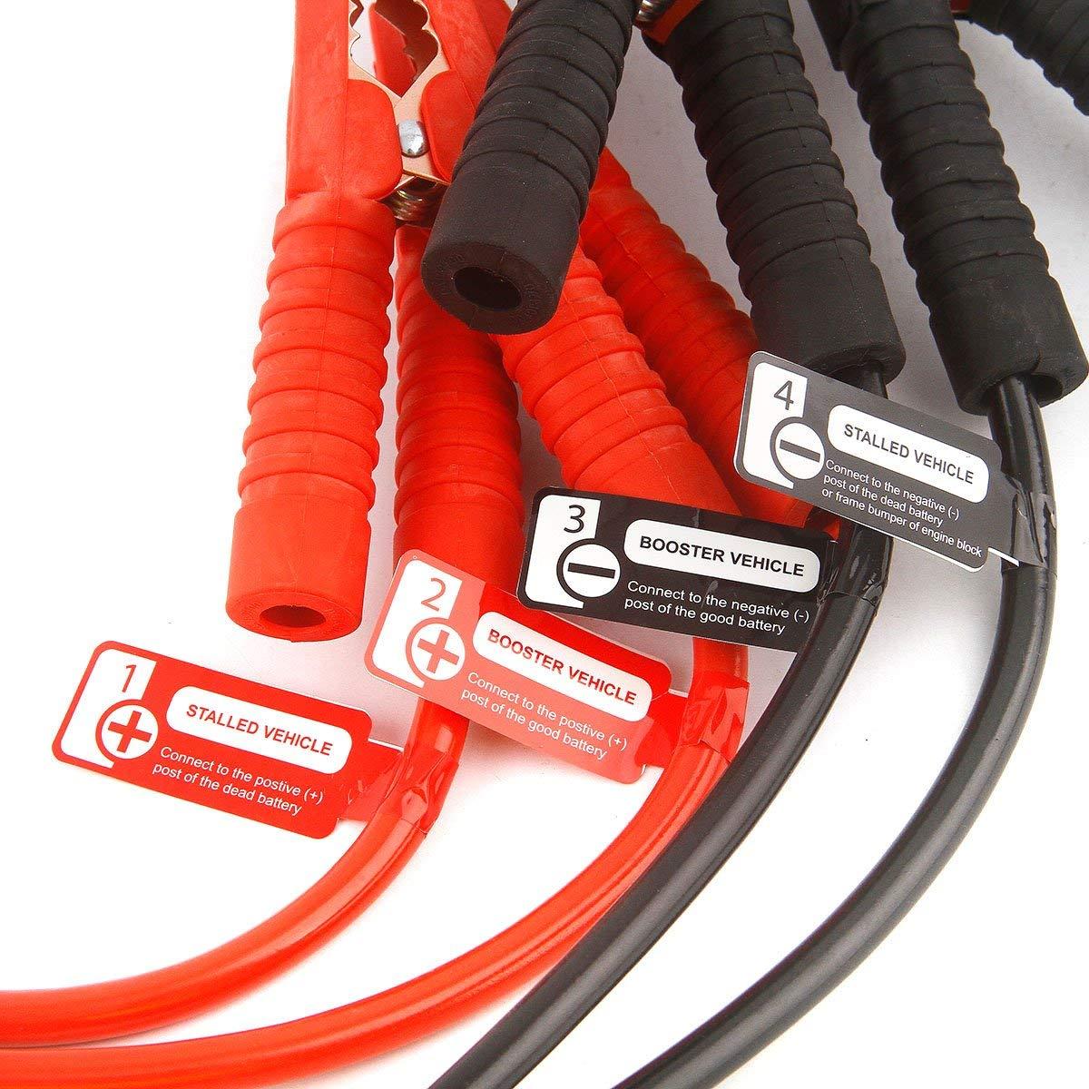 Starthilfekabel schwere Pflicht 900/AMP 20/ft 6/m Kupfer Kiefer mit Tragetasche Sicherheit Handschuhe Booster Kabel