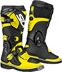 Sidi Youth Kids Flame MX Boots (38/5.5, Flo Yellow/Black)