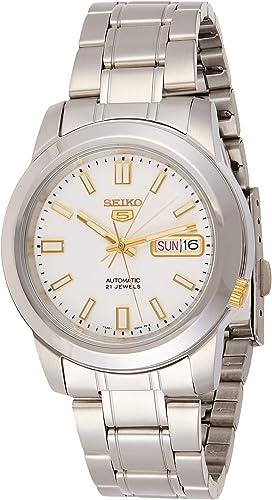 Relógio analógico Seiko SNKK07K1 automático com pulseira de aço inoxidável