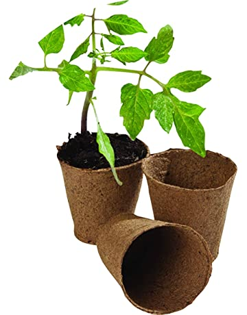 WARKHOME 48 unidades Macetas de Fibra Biodegradable ,Turba Macetas para Planta &Jardín(Redondas,