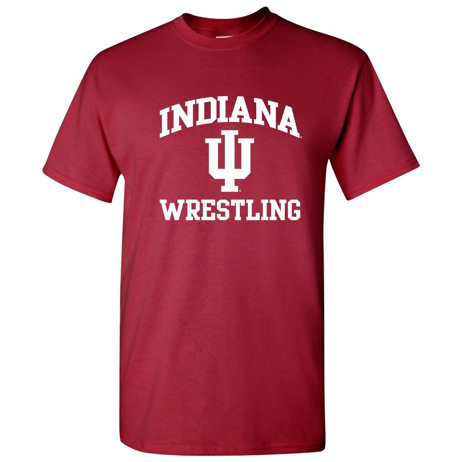UGP Campus Apparel AS1104 - Indiana Hoosiers Arch Logo Wrestling T-Shirt - Medium - Cardinal