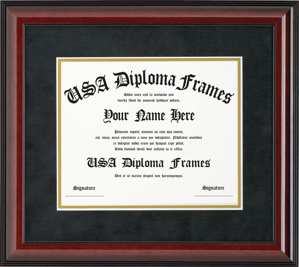Cherry Glossy Mahogany Diploma Frame (8.5 x 11 documents or certificates)