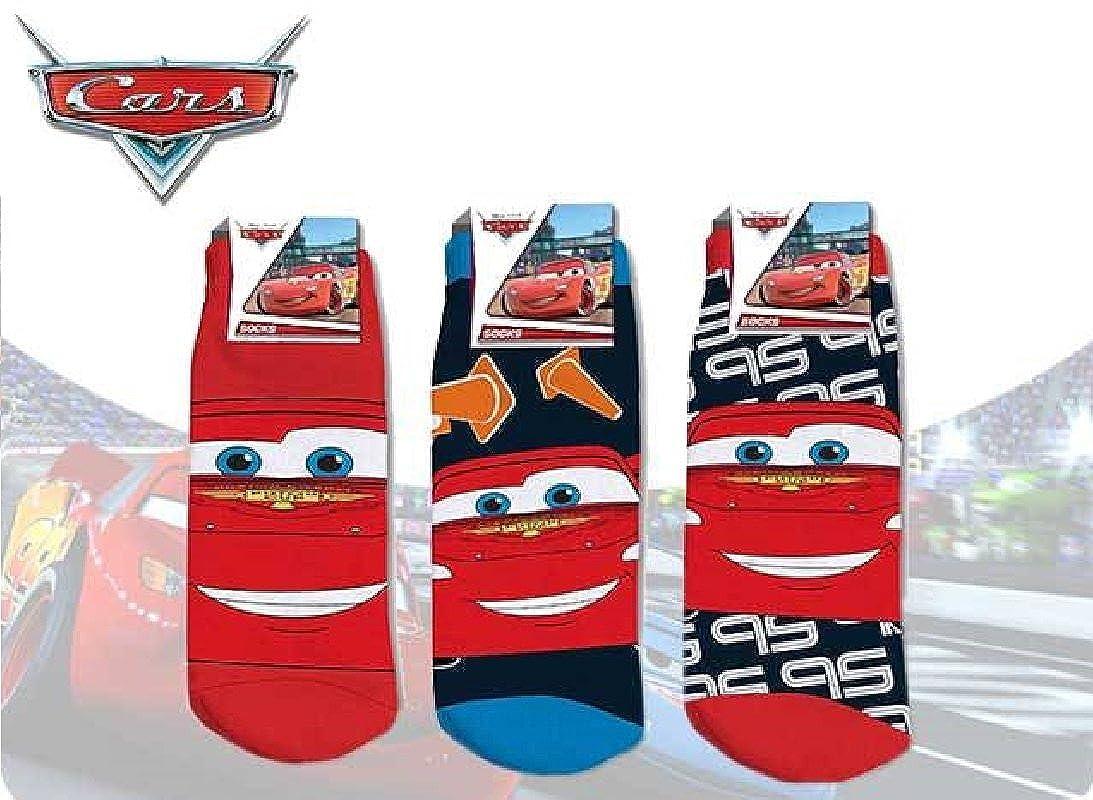 Disney confezione da 3calzini Cars–Pack di 3CALZINI per bambini, colore: Pack di 3, taglia 31/34 NH4965
