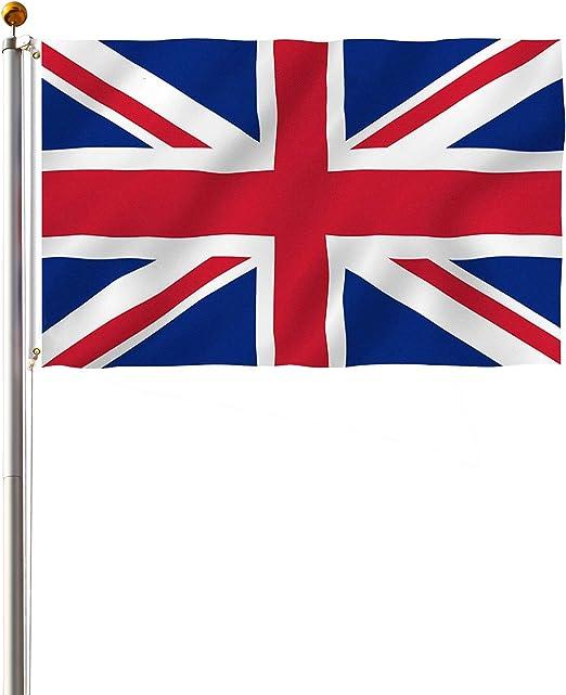 Display4top Mástil Aluminio Exterior 6.1m Incluye Bandera de Reino ...