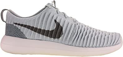 Nike Mens Roshe Two Flyknit Running Shoes Pure Platinum/Wolf Grey/White  844833-011 Size 10