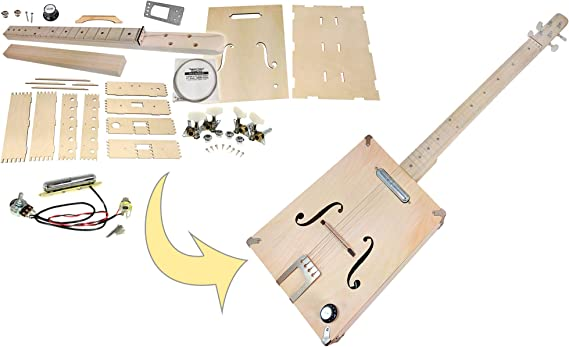 The Mountain Tenor Acoustic DIY 4-string Box Guitar Kit