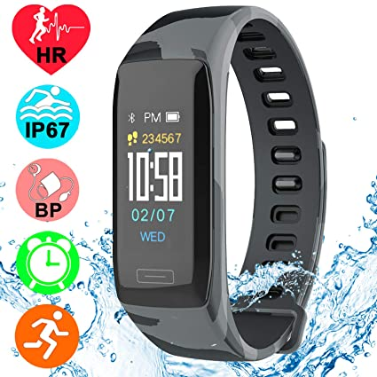 Fitness Smart Watch Activity Tracker for Men Women Android iOS with 8 Exercise Modes Heart Rate