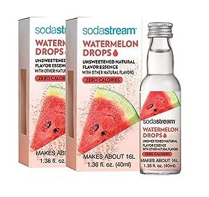 SodaStream Fruit Drops Flavored 1.36 fl oz, Pack of 2 (Watermelon)