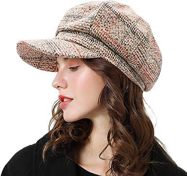 Cloth Fabric Hat Newsboy Style Hat Spring Autumn Summer Fashion Accessories Women/'s Hat Womens Gift Octagonal Caps Plaid Retro Hat