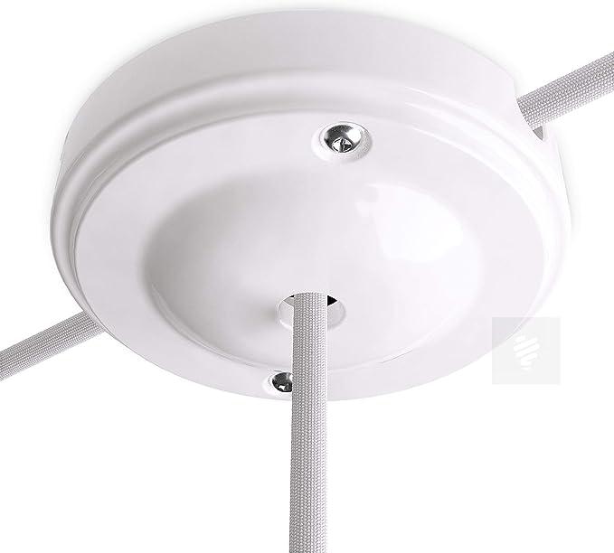 Lampen Baldachin Porzellan New Modern Weiß Ø 10 Cm Baumarkt