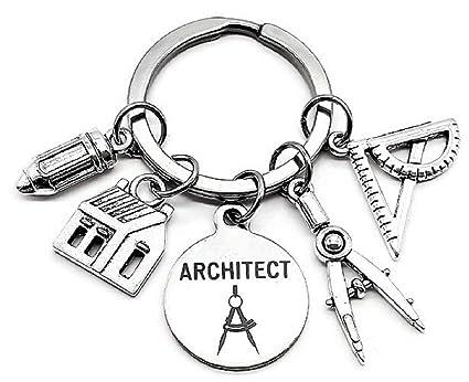 Llavero de arquitecto, ingeniero arquitectónico, estudiante ...