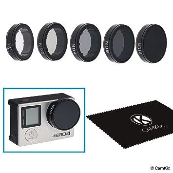 CamKix Paquete de filtros cinematográficos Compatible con GoPro Hero 4 and 3+, Incluye 4