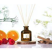 Hotel Reed Diffuser - Home Fragrance   Fresh Cut Rose, Tangerine, White Cedar Scent Diffuser   Oil Diffuser Sticks…
