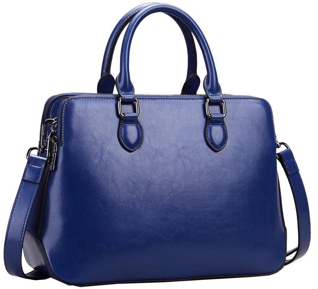 Heshe-Leather-Womens-Handbags-Totes-Top-Handle-Shoulder-Bag-Satchel-Ladies-Purses