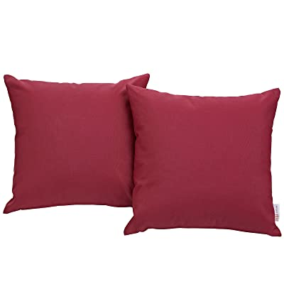 Modway EEI-2001-RED Convene Two Piece Patio Pillow Set Outdoor Furniture, Red: Home Improvement