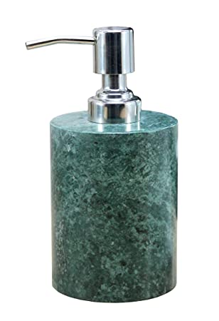 KLEO Soap Dispenser - Made of Marble in Various Colors - Luxury Bathroom Accessories Bath Accessories Lotion Dispenser (Green) Bathroom Soap Dispensers at amazon