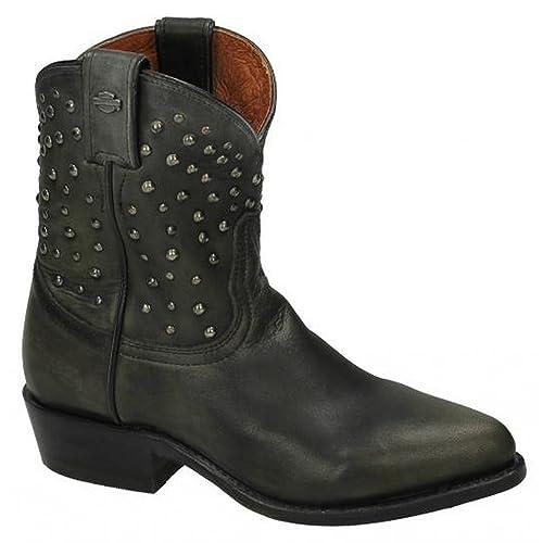 107a3d9a7a8ec Harley Davidson Kira Womens Ladies Leather Biker Boots (UK 3.5 Wide) (Black