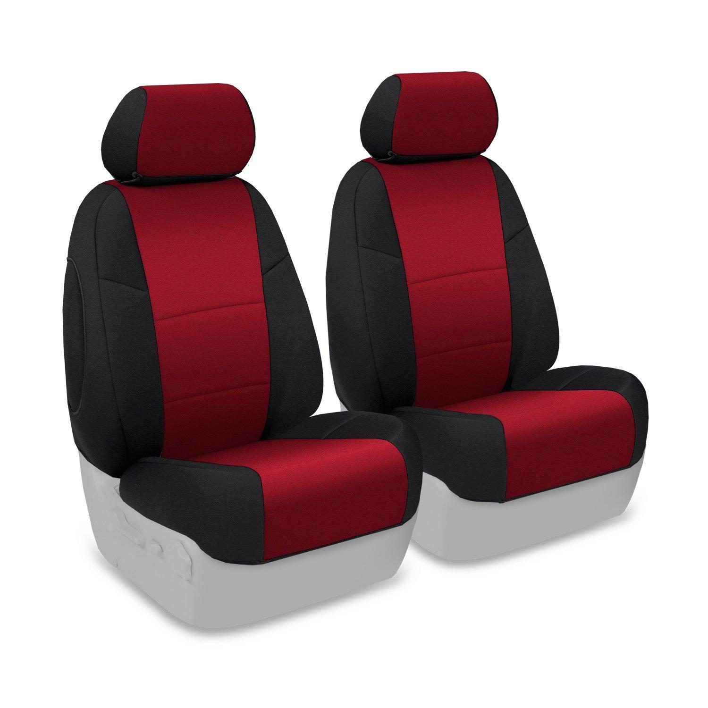 Coverking Custom Fit Seat Cover for Ford F-150//250//350 Truck Neosupreme, Gray//Black Side