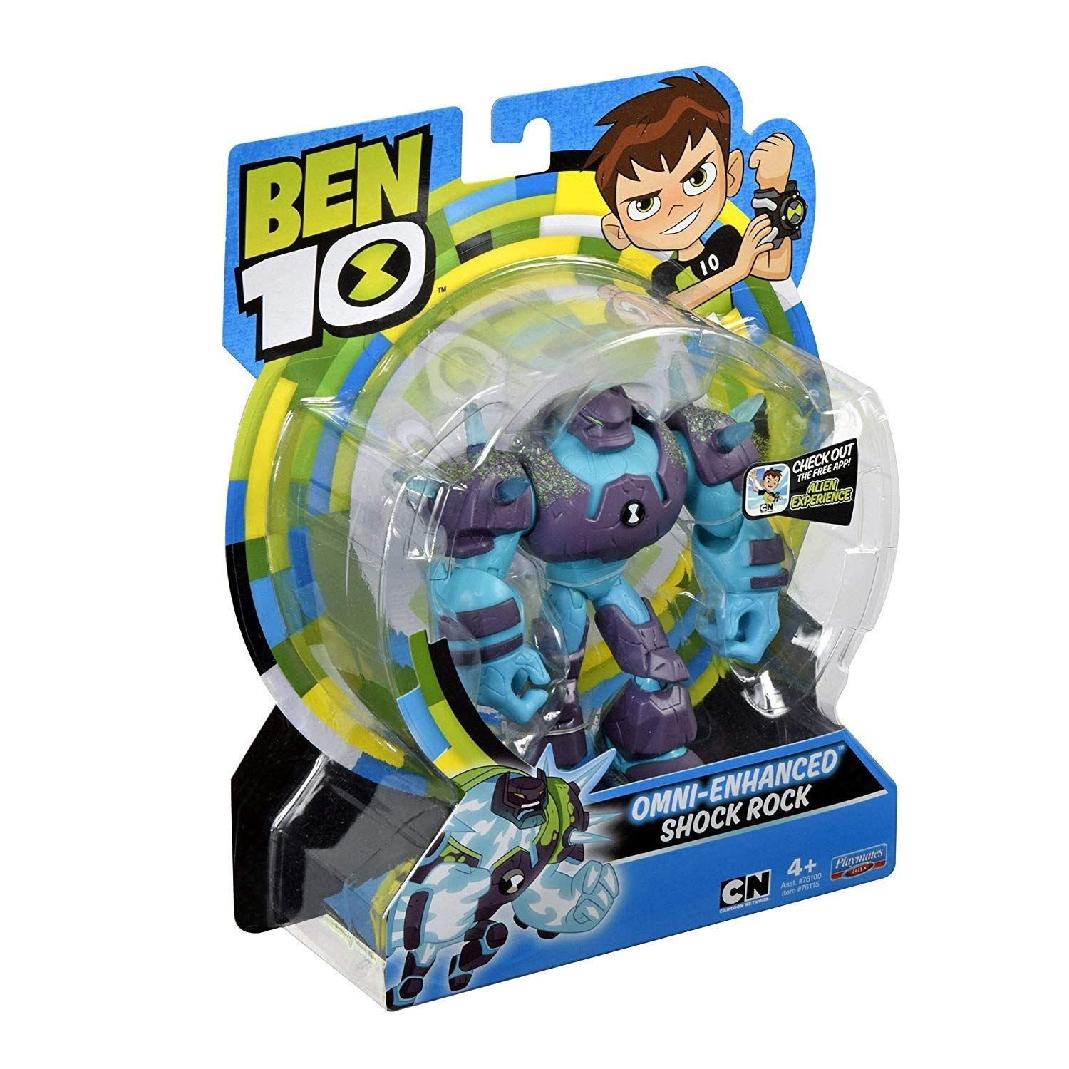 "Ben 10 Omni Enhanced Shockrock Action Figure 4/"" 5/"" Shock Rock"