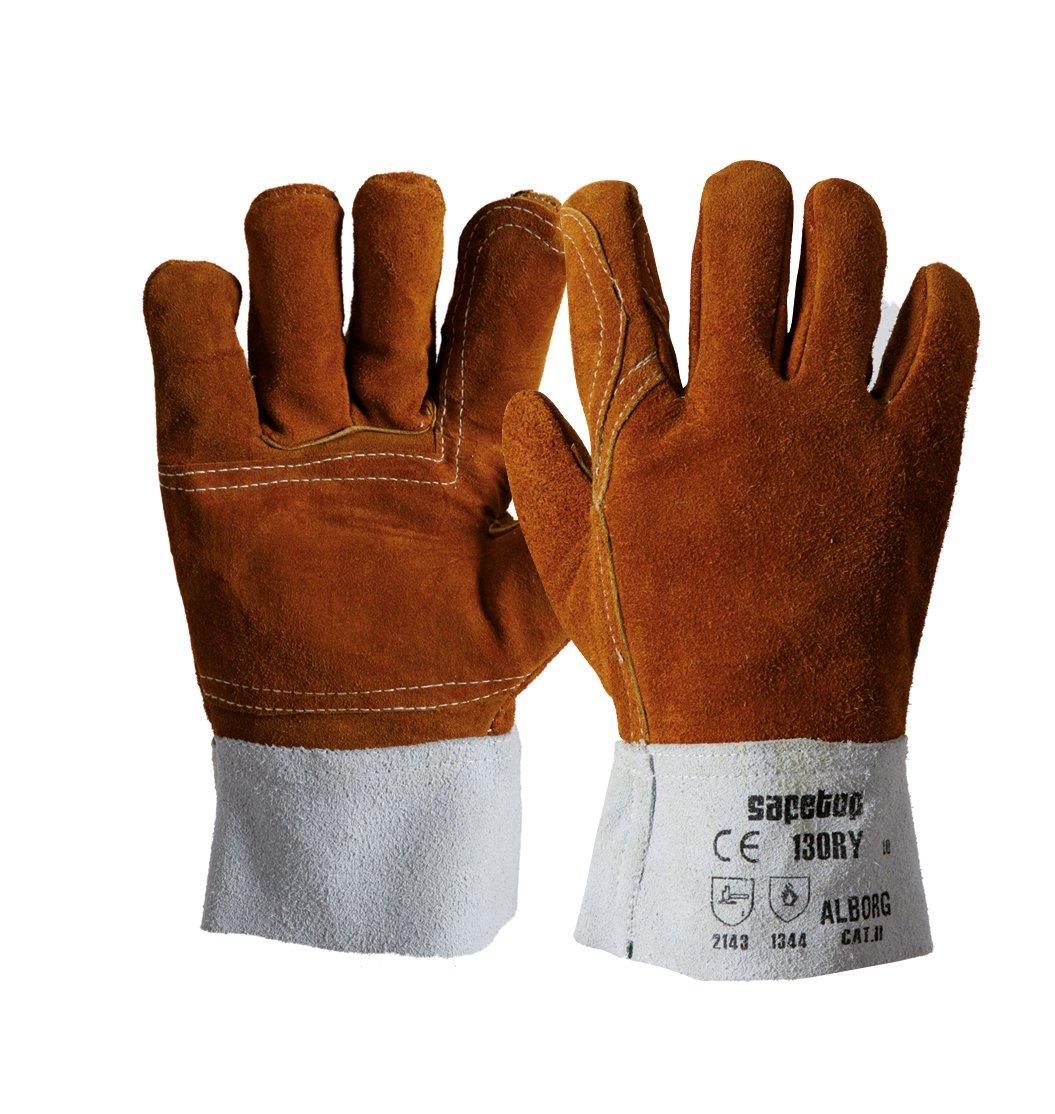 SAFETOP Schweißer-Handschuhe Modell ALBORG Größe 10(12-er Pack)