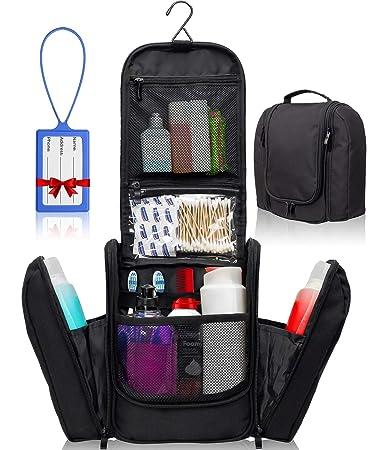 9f1234708db0 Premium Hanging Toiletry Travel Bag – Large Waterproof Bathroom Bag Holds  Toiletries, Makeup,...