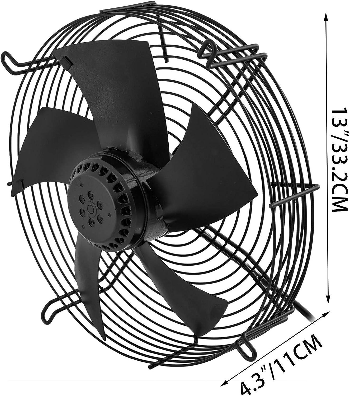h Frantools YWF4E-250 Extracteur industriel Ventilateur commercial de soufflante dair industriel de ventilateur axial de ventilation de 10 pouces 2200m3