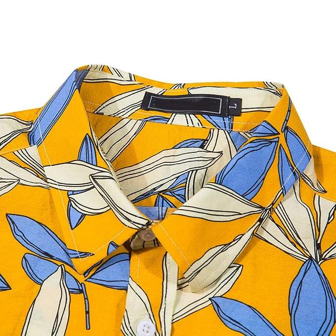 ZODOF Camisa Hawaiana Camisetas Hombre Manga Corta Camisas de ...