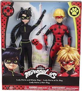 Bandai 39814 Miraculous Ladybug Doll Model 26 cm Mister Bug and Lady Black
