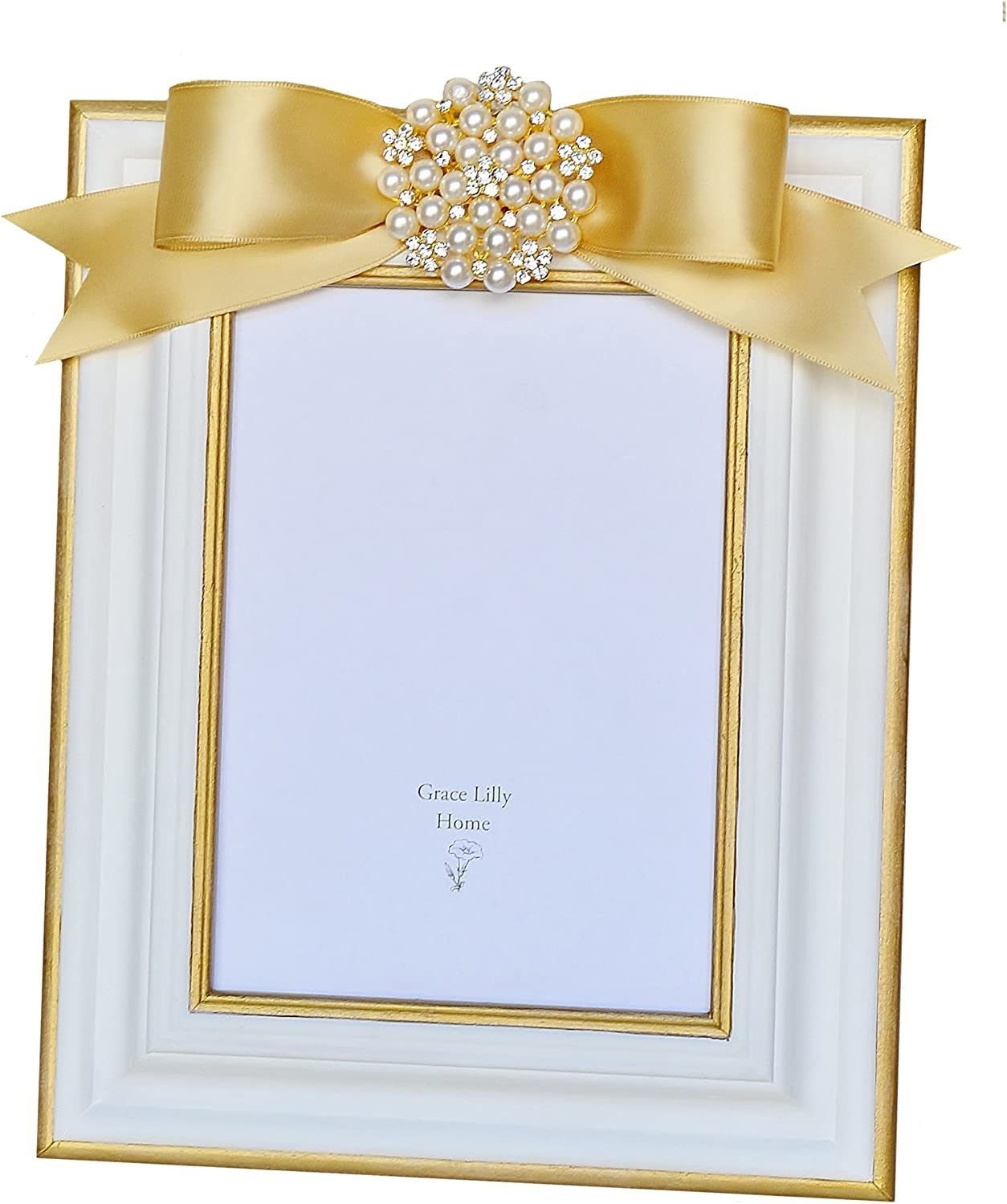 Embellished Picture Frame with Bow