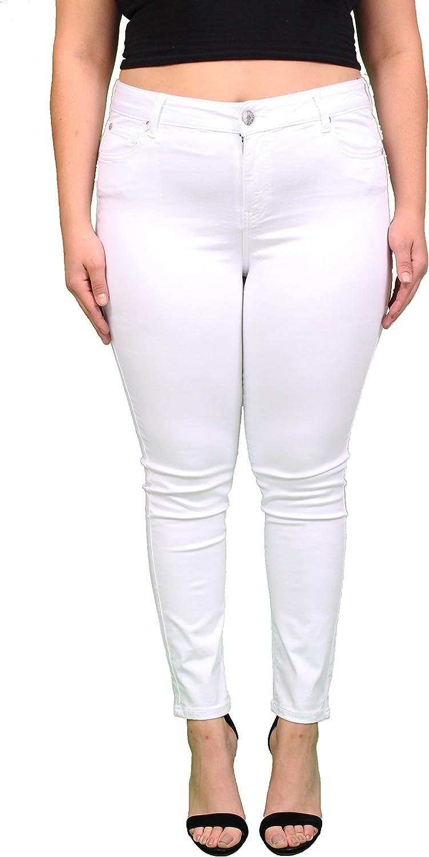 Celebrity Pink Jeans Women Plus Size White Skinny Jeans