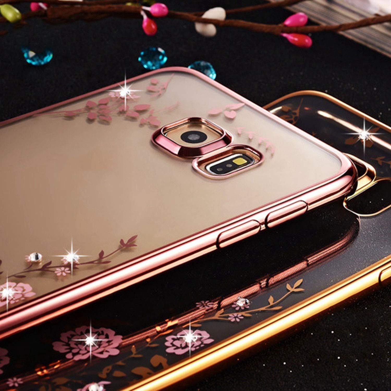 Amazon.com: for Samsung Plating Cover Soft TPU Phone case ...